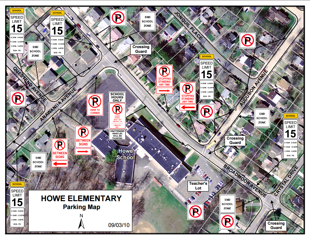 Howe Parking Map