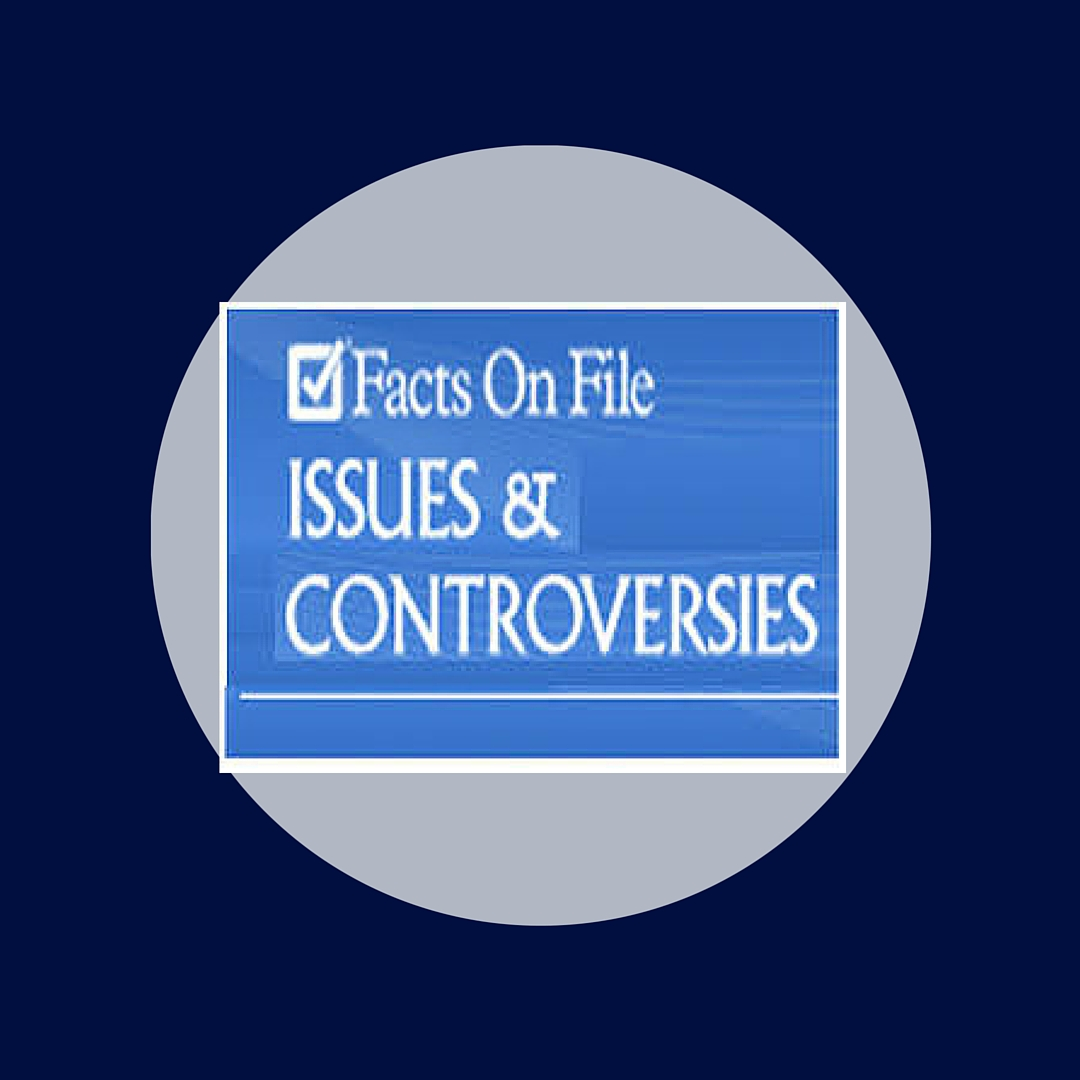 Issues and Controversies provides current information on social issues. Browse the topics page to get inspiration for a research paper or speech