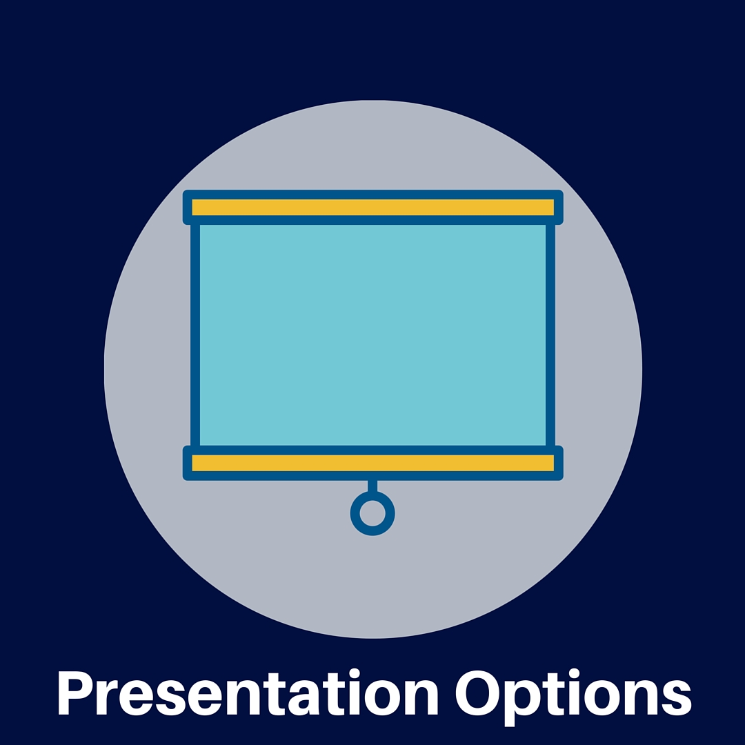 Learn about options for presenting that will impress your audience