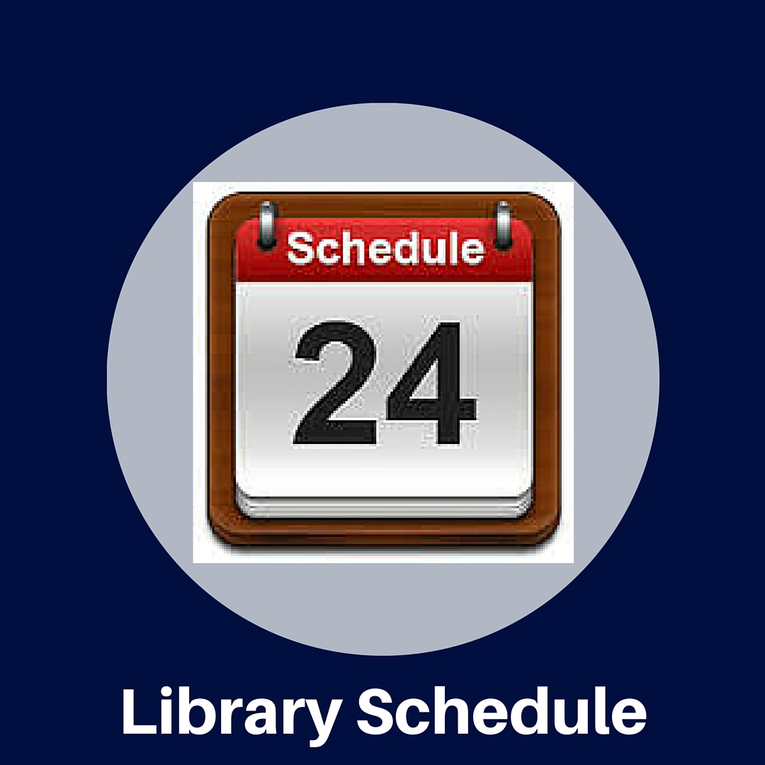 Are you in the library today? Check our schedule to see! Teachers may schedule the library by calling X12029 or emailing Mrs. Smith